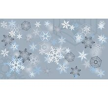 Snowflakes background Photographic Print