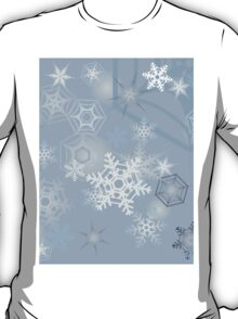 Snowflakes background T-Shirt