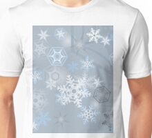 Snowflakes background Unisex T-Shirt