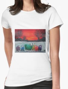 The Flock Womens Fitted T-Shirt