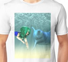 Mermaid with a dolphin 2 Unisex T-Shirt