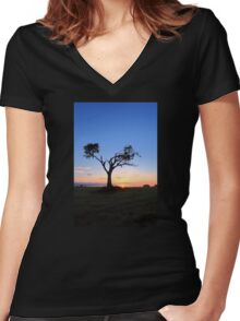 Prepare To Dazzle Women's Fitted V-Neck T-Shirt
