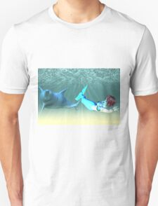Mermaid with a dolphin 4 T-Shirt