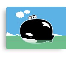 Little Lost Orca Canvas Print