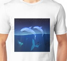 Mermaid with a dolphin 6 Unisex T-Shirt