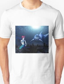 Mermaid with a dolphin 7 T-Shirt