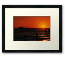 Sunset beach NJ. Framed Print