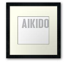 Burn Off The Crazy Aikido T-shirt Framed Print