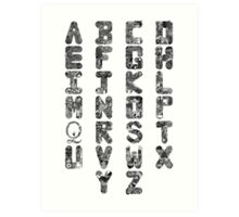 A-Z Alphabet Art Print