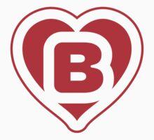 Heart B letter Kids Tee
