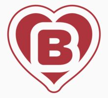 Heart B letter Kids Clothes