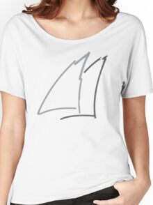 Abstract Sail Women's Relaxed Fit T-Shirt
