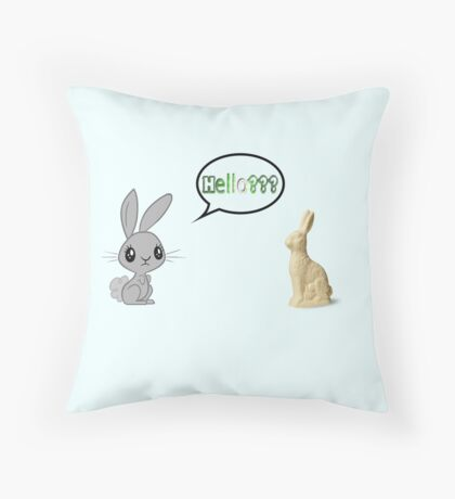 Commical easter bunnies Throw Pillow