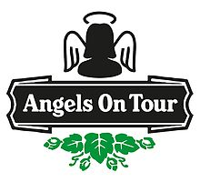 Angels On Tour - Hen Party T-Shirt by springwoodbooks