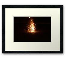 flammable Framed Print