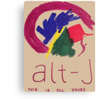 Alt-J This is All Yours Canvas Print