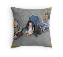 Waiting for pickup Throw Pillow