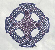 purple wheeled cross by PeterGrimes