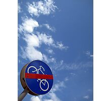 ...no bicycles in heaven... Photographic Print