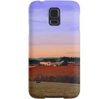 Countryside panorama in beautiful sunset colors | landscape photography Samsung Galaxy Case/Skin