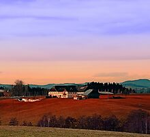 Countryside panorama in beautiful sunset colors | landscape photography by Patrick Jobst
