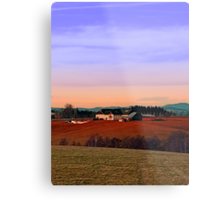 Countryside panorama in beautiful sunset colors | landscape photography Metal Print