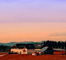 Countryside panorama in beautiful sunset colors | landscape photography Sticker