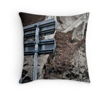 Turn here Throw Pillow