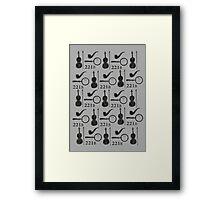 Sherlock Holmes Pattern Framed Print
