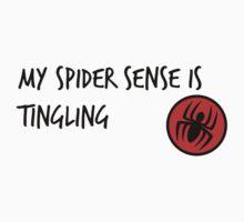 Spider man themed design Kids Tee