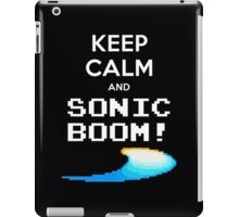 KEEP CALM AND SONIC BOOM!! iPad Case/Skin