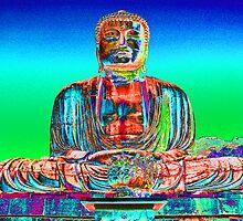 Daibutsu BUDDHA statue,  Kamakura, Japan by Peter Schneiter