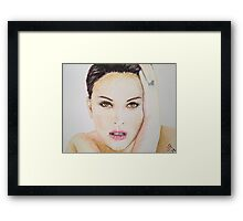 Natalie Portman, Pastels Portrait, by James Patrick Framed Print