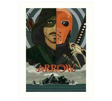 Arrow Arrow Vs. Deathstroke Art Print