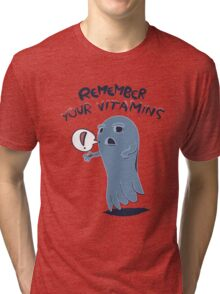 The Vitamin Ghost – Remember Your Vitamins Tri-blend T-Shirt