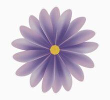 Purple Flower Baby Tee