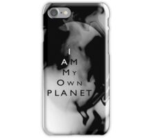 Psychmaster Space Object My Own Planet BW iPhone Case/Skin