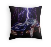 Lightning Fast Throw Pillow
