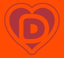 Heart D letter Kids Clothes