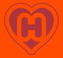 Heart H letter Kids Clothes