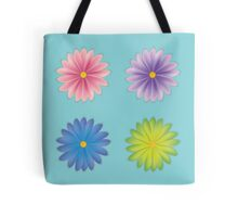 Flower Collection — Pink, Purple, Blue, Green Tote Bag