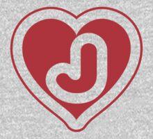Heart J letter Kids Clothes