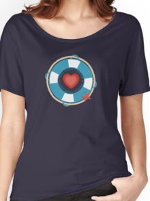 first mates forever nautical love Valentines Day Women's Relaxed Fit T-Shirt