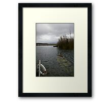 Boat Under Water Framed Print