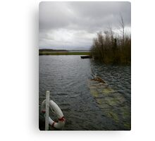 Boat Under Water Canvas Print
