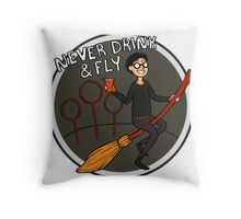 Never Drink & Fly Throw Pillow