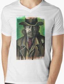 Actor Lew Temple as a cowboy from the Lone Ranger Mens V-Neck T-Shirt