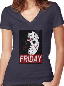 FRIDAY Women's Fitted V-Neck T-Shirt