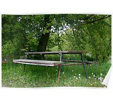 Grandma's Picnic Table (LLD4) Poster