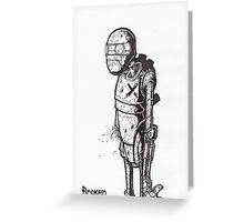 Broken Robot #1  Greeting Card